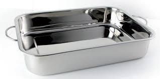 ustensil de cuisine professionnel plat à lasagnes avec anses poli miroir stl sarl materiels