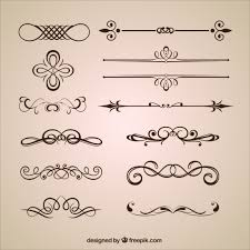 ornamental dividers vector free