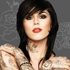 kat von d small symbol tattoo on face tattoo from itattooz
