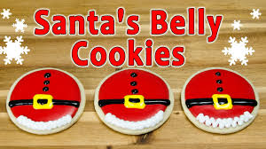 santa u0027s belly christmas cookies by cookies cupcakes and cardio