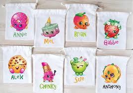 personalized party favor bags shopkins favor bags shopkins party favors personalized party