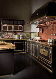 sparkling trend 25 gorgeous kitchens with a bright metallic glint exquisite victorian kitchen with burnished brass and copper finishes design officine gullo usa
