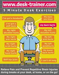 Neck Exercises At Desk Desk Trainer Desk Exercises And Information On Ergonomics In The