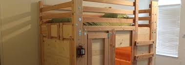 Wooden Loft Bed Diy by Bunk Bed Plans Bed Fort Plans Loft Bed Plans