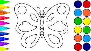 draw butterfly coloring pages butterfly learn colors