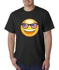 Flag Sunglasses New Way 474 Unisex T Shirt Emoji Smiley Face Usa American Flag