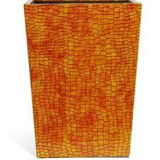 Yellow Wastebasket Brass Waste Basket Wayfair