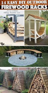 14 easy diy outdoor firewood racks to keep those logs perfectly