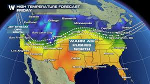 Jet Stream Map Warming Trend For The Southern Plains Later This Week Weathernation