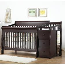 Convertible Crib Set Sorelle Tuscany 4 In 1 Convertible Crib And Changer Set In Espresso
