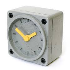 concrete alarm clock betonklok wekker cool concretedesign