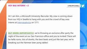 hey bae intern u0027 microsoft u0027s slangy recruitment email fail nbc news