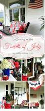 the fourth of july decorated my red front door fourth of july fourth of july decor patriotic decor decorating for the fourth