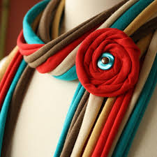 Handmade Fabric Crafts - fabric scarves and necklaces by pronta handmade jewlery bags