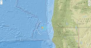 Map Of California And Oregon by Quake Hits Pacific Ocean Off Coast Of California Oregon Kgw Com