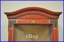 Oriental Credenza Jasper Oriental Chinoiserie Red Display China Cabinet Curio Credenza