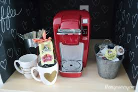 a diy valentine u0027s day coffee nook keurig mini plus review the