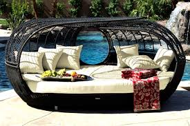 Outdoor Wicker Daybed Handcrafted Outdoor Wicker Daybed