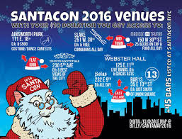 Midtown Manhattan Map Santacon Nyc 2016 The Full Route Map Gramercy Ny Patch