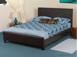 Faux Bed Frames Sweet Dreams Grouse 3ft Single Brown Faux Leather Bed Frame