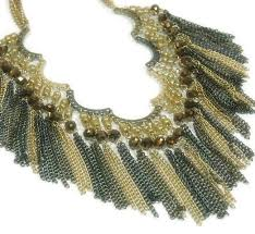 boho necklace set images Beaded fringe necklace statement southwest boho scalloped fringe jpg