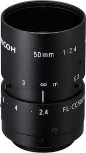 50 mm c mount lens ricoh fl cc5024a 2m 2 4 vision dimension