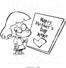 cards clipart mothers day pencil and in color cards clipart