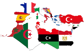Flags Countries Mediterranean Countries Flag Map By Captainvoda On Deviantart