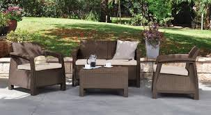 All Weather Patio Chairs Keter Corfu All Weather Outdoor Patio Furniture With Cushions