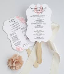 program fans die cut wedding program fan deersfield white pink ornamental