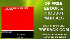 honda 400ex service manual video dailymotion
