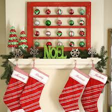 Decorative Christmas Trees For Mantels by Colorize Your Fireplace Building With Christmas Decorations For