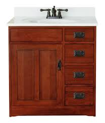 sunny wood fr3021d mission oak vanity cabinet 30
