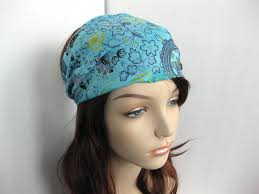 bandana hippie boho headband wrap dreadband womens hippie bandana blue teal
