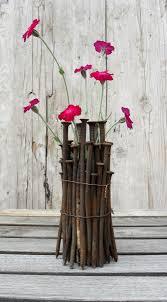 Vase To Vase Florist Striking Diy Industrial Chic Vase Made From Old Carpenter Nails