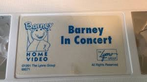barney in concert vhs tape display 1991 barney u0026 friends video