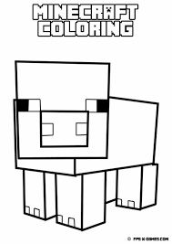 printable minecraft coloring pig minecraft party ideas pinterest