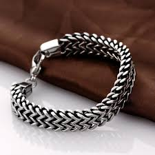 silver snake chain bracelet images Stainless steel double side snake chain bracelet project yourself jpg