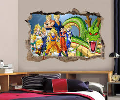 dragon ball z wall stickers ebay dragon ball z wall decal removable wall sticker mural goku vegeta shenron h189
