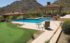 backyards with pools this area has it all pool putting green fireplace swimming