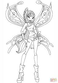 Believix Musa Coloring Page Free Printable Coloring Pages Winx Club Musa Coloring Pages