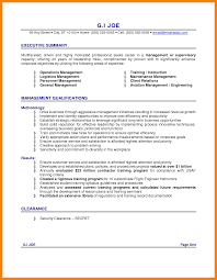 Summary Example For Resume by 28 Management Qualifications For Resume Project Management
