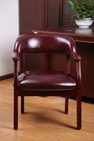Mobile Upholstery Repair Phoenix by Boss Office Products Burgundy Ivy League Executive Captains Chair