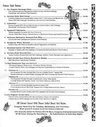 german cuisine menu menu page 2 edelweiss german restaurantedelweiss german