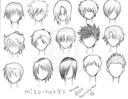 shonen hairstyles gallery easy boy hair to draw drawing art gallery