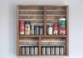 kitchen spice rack ideas wall mounted spice rack diy home designs insight simple trick