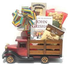 book gift baskets birthday baskets gifts birthday party wooden truck gift a