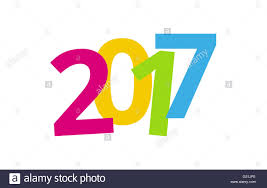 2017 happy new year color background design stock photo royalty