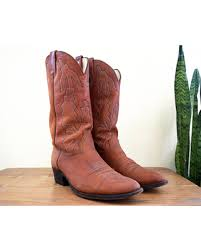 vintage cowboy boot l deals on mens 9 1 2 d marlboro cowboy boots by dan post vintage