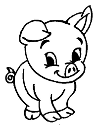 adorable baby pig coloring coloring sky